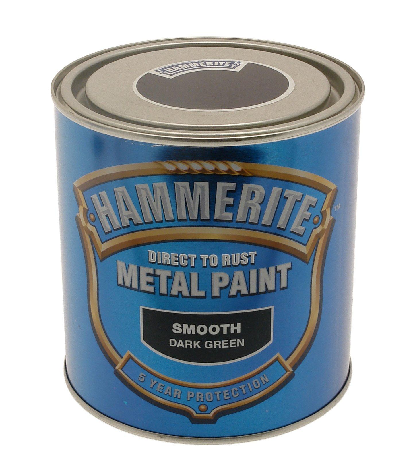 Hammerite 5084889 Ham6722901 250Ml Metal Paint - Smooth Dark Green