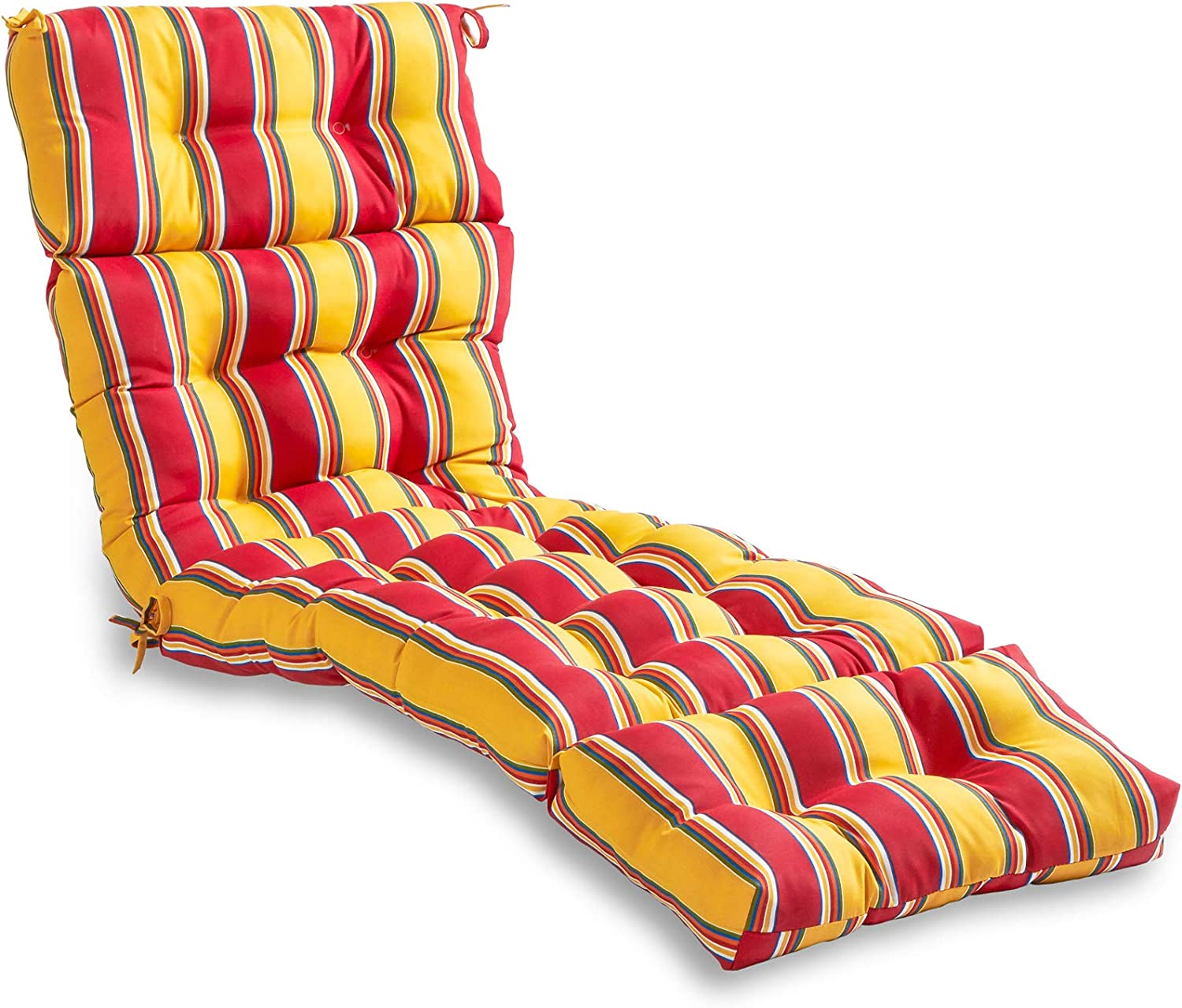 South Pine Porch AM4804-CARNIVAL Carnival Stripe 72-inch Outdoor Chaise Lounge Cushion
