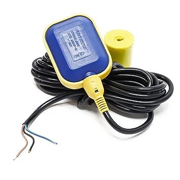 Interruptor de flotador de PVC Interruptor de cambio Regulador de nivel cable 2m 250V 16A: Amazon.es: Bricolaje y herramientas