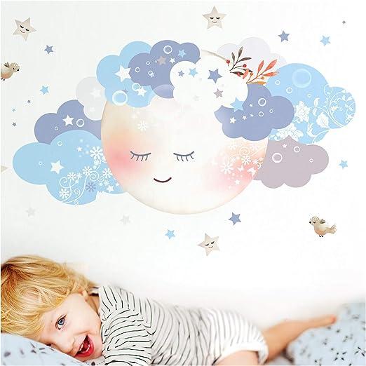 Dekoration Little Deco Wandaufkleber Junge Wandtattoo Mond Sterne Wandsticker Baby Dl445 Mobel Wohnen Hsdsonline Com