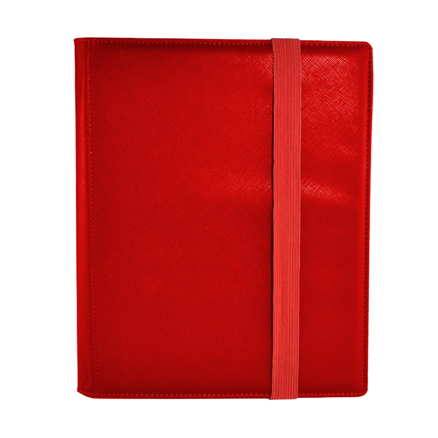Dex Protection Dex Binder 9 Red Deluxe Portfolio 9-Pocket Velvet-Lined Playset Album Holds 360 Cards Double Sided, Side-Load Binder fits Magic, Pokemon, Yu-Gi-Oh