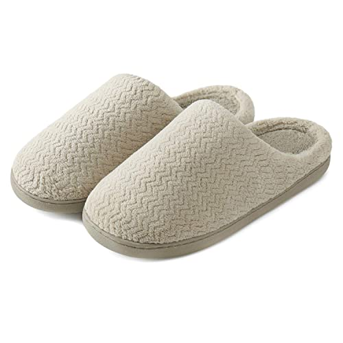 6e8cf70614bca0 Neeseelily Women s Comfort Slip On Home Slippers Fuzzy Plush House Anti-Skid  Slippers Indoor Outdoor