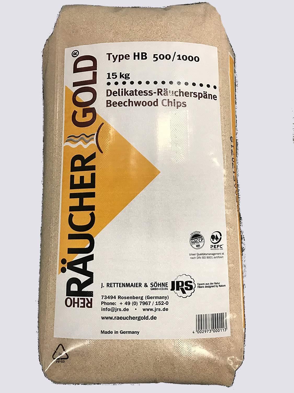 R/äuchergold HB 500-1000 Rettenmaier Sciure de fumage fine en bois de h/être 0,5-1 mm 15 kg