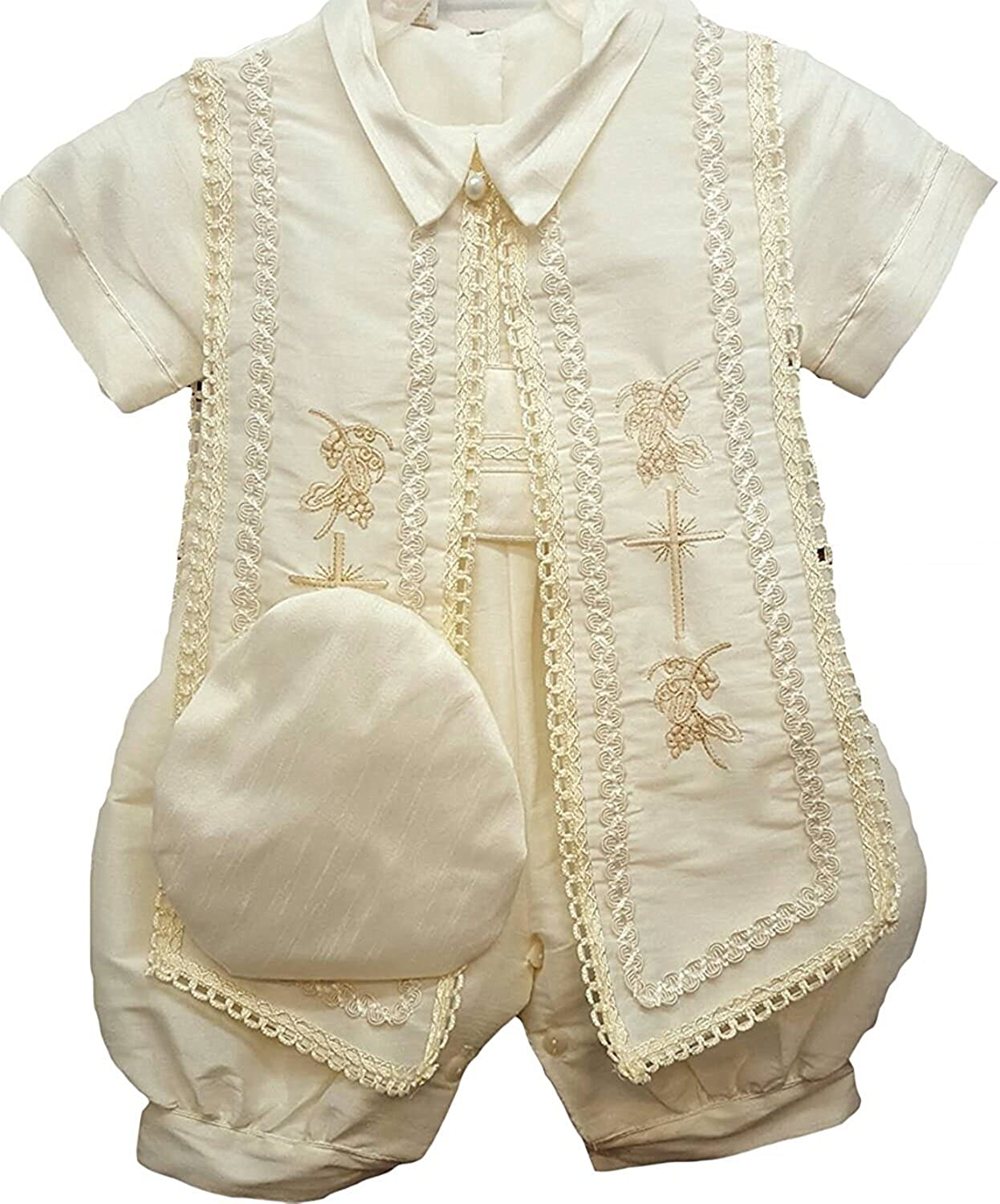 Aorme Baby Boys Christening Outfits Baptism Set Romper Suit