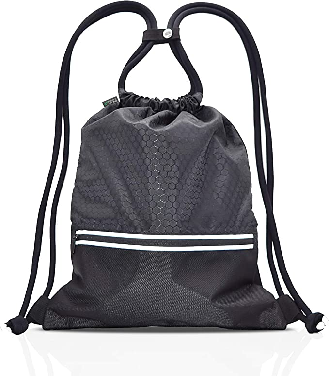 Drawstring Bag Sports Gym Backpack Water Resistant School Rucksack