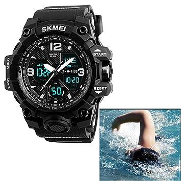Electronic Shock Resistant Reloj deportivo 50 m Buceo impermeable Deporte Militar analógico Digital multifuncional reloj diseño