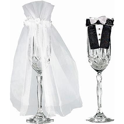 Amscan International - Trajes de novio y novia para copas (2 unidades)