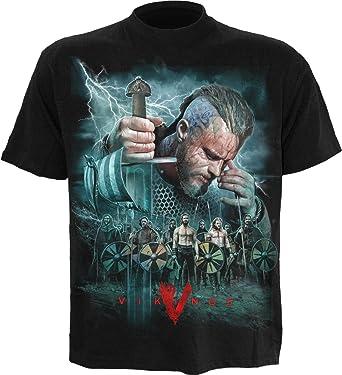 4bd7818c Spiral Mens - Vikings - Battle - Vikings T-Shirt Black