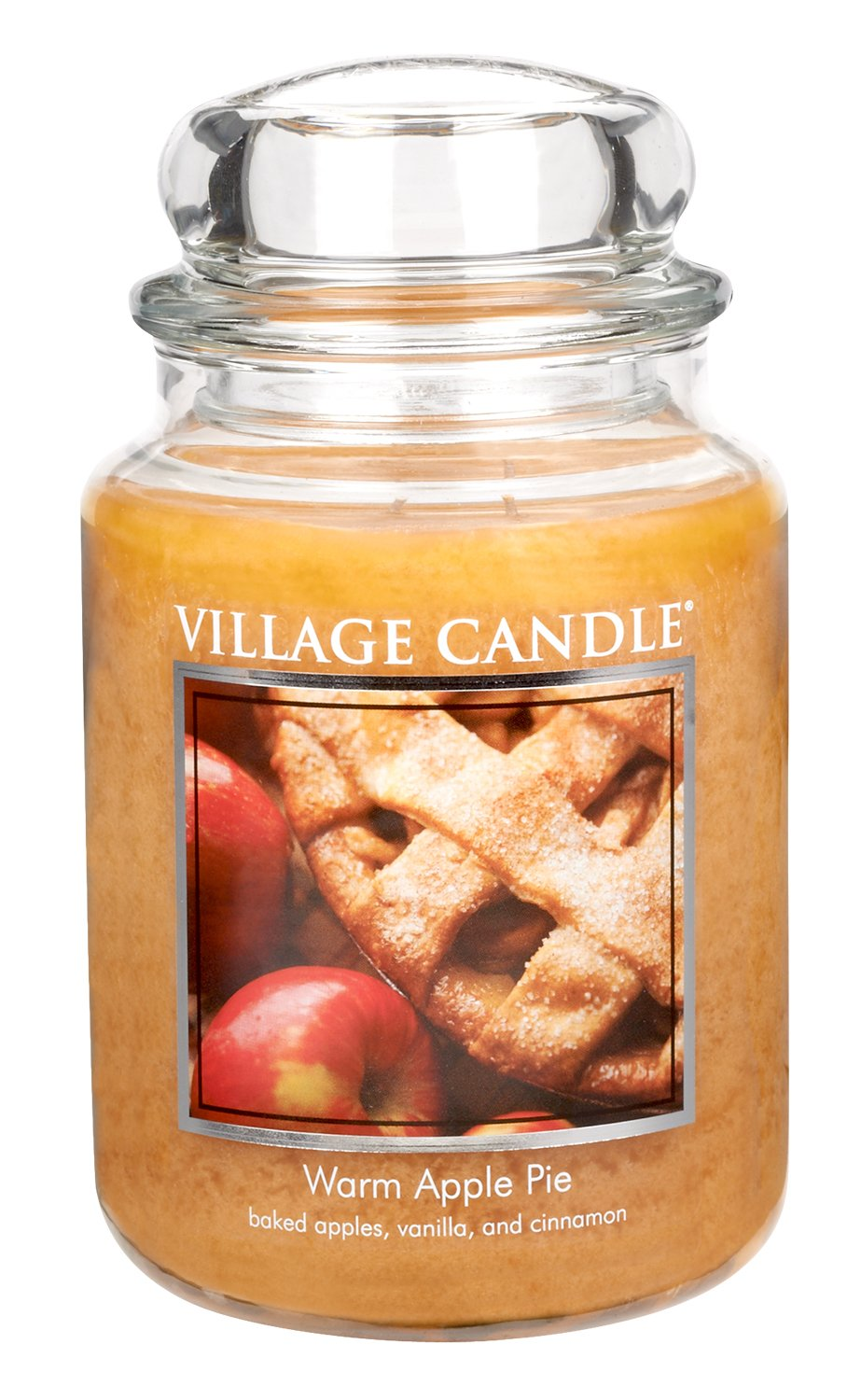Village Candle Warm Apple Pie 26 oz Glass Jar Scented Candle, Large 106026307