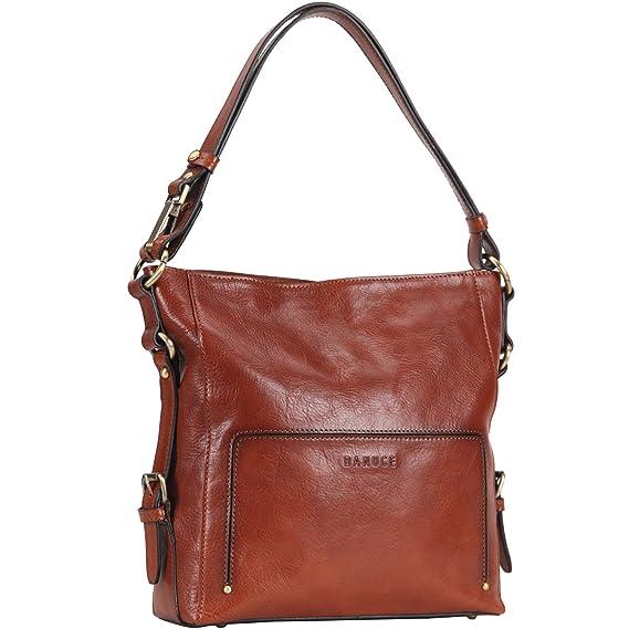 6865fd083f3e Amazon.com: Banuce Vintage Full Grains Italian Leather Hobo Handbags for  Women Crossbody Purse Ladies Shoulder Messenger Bag: Banuce