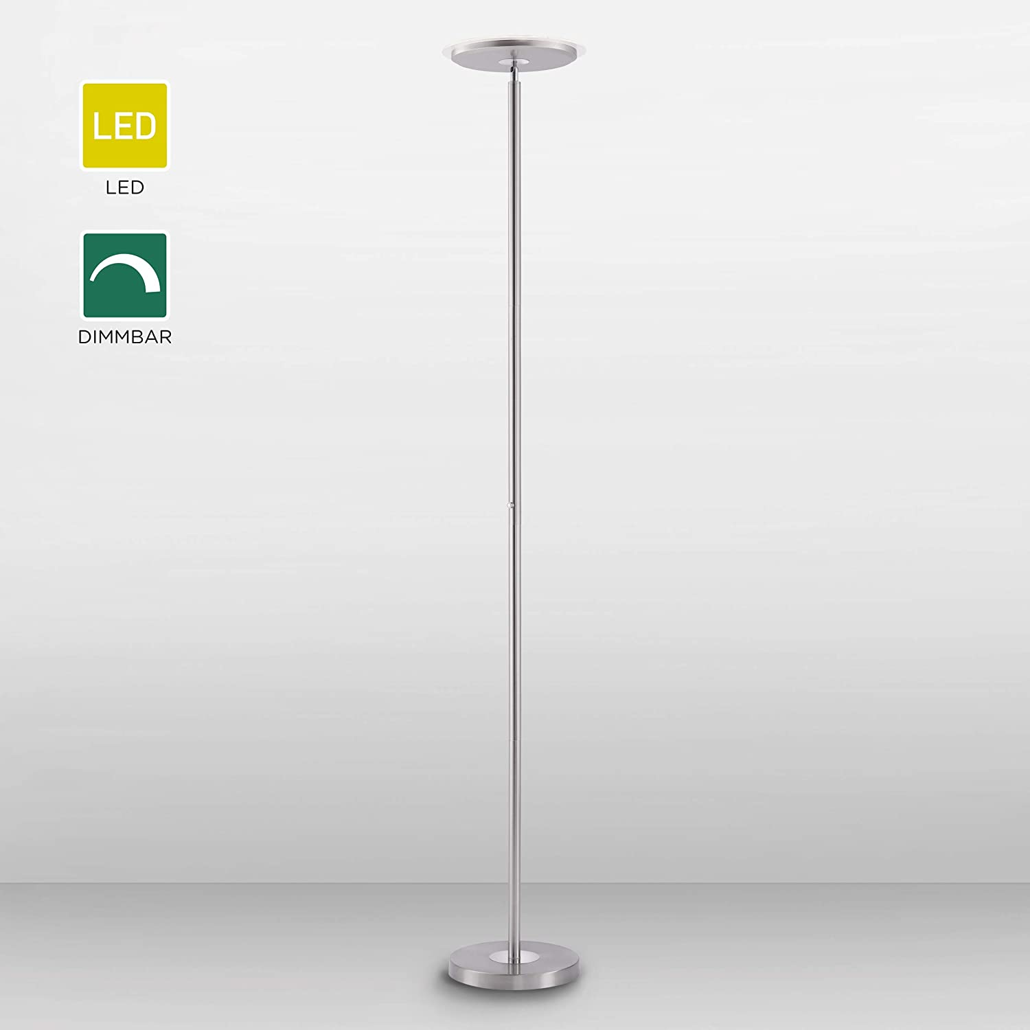 Led Deckenfluter Dimmbar Touch Dimmer Stehlampe 3000 Kelvin
