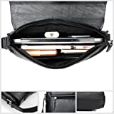 Bag For Men Leather Messenger Bag Laptop Black