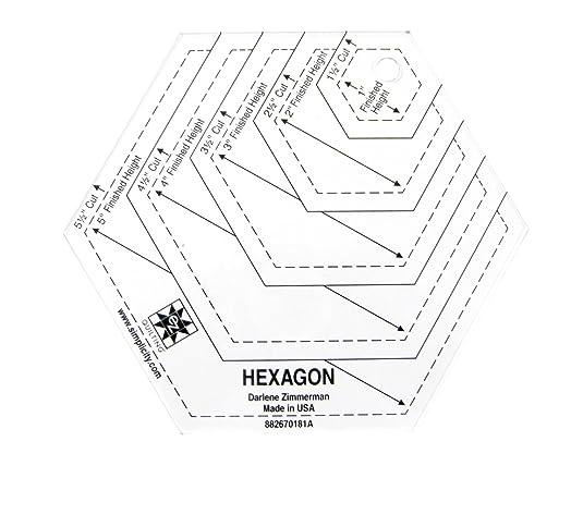 Hexagon Shape Acrylic Quilting Template Amazon Co Uk Garden Outdoors