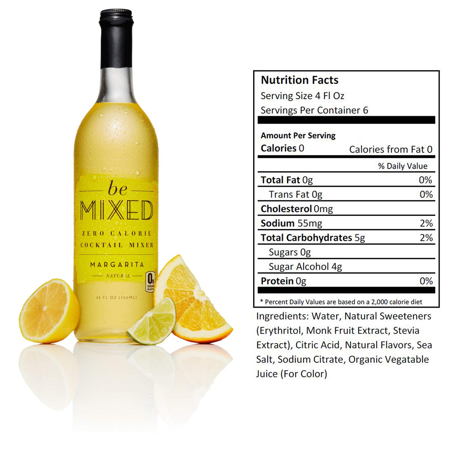 Zero Calorie Margarita Cocktail Mixer by Be Mixed | Low Carb, Keto Friendly, Sugar Free and Gluten Free Drink Mix | 25 ounce bottle, 3 pack by Be Mixed (Image #1)
