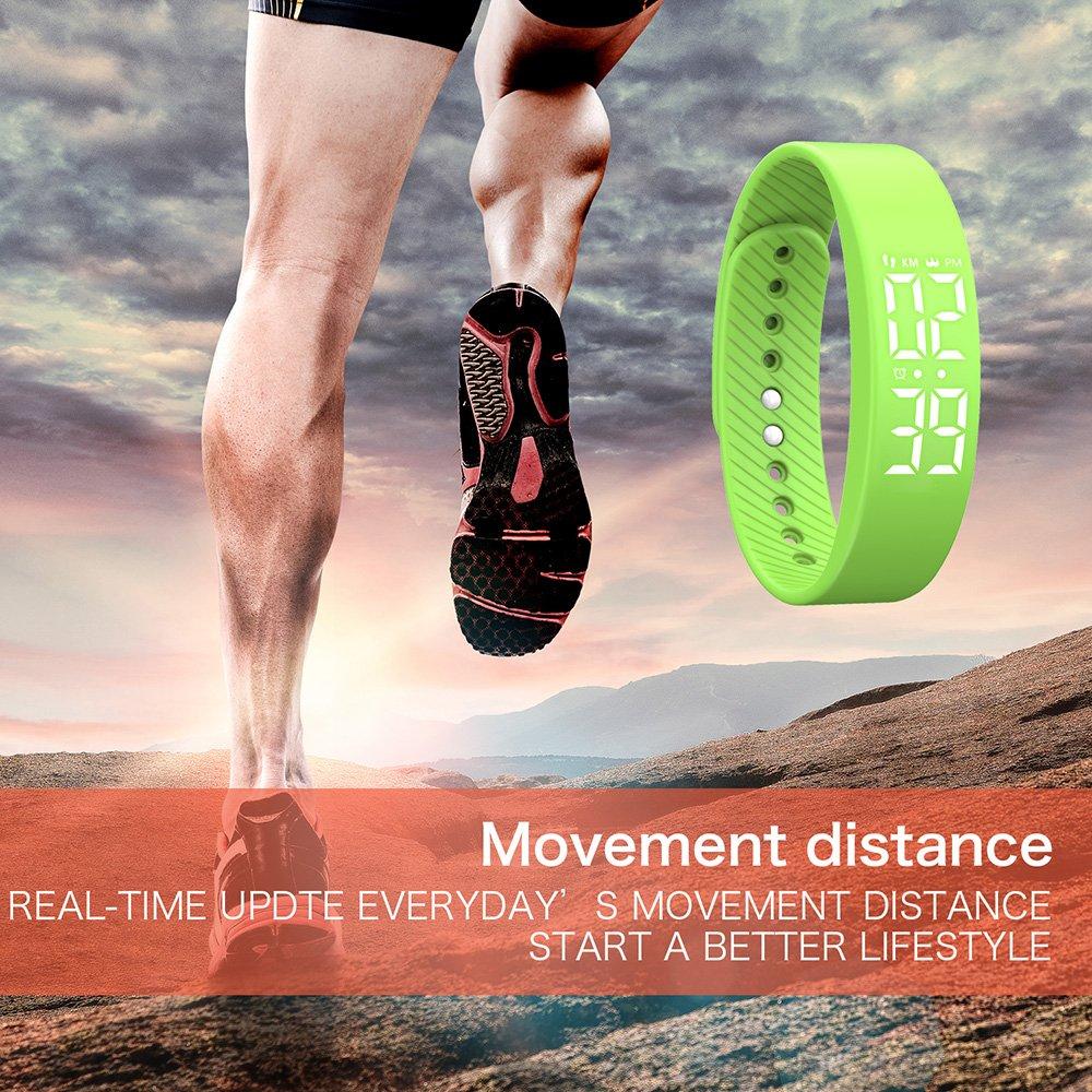 iGank Pulsera Inteligente, T5S Smart Pulsera Fitness Tracker ...