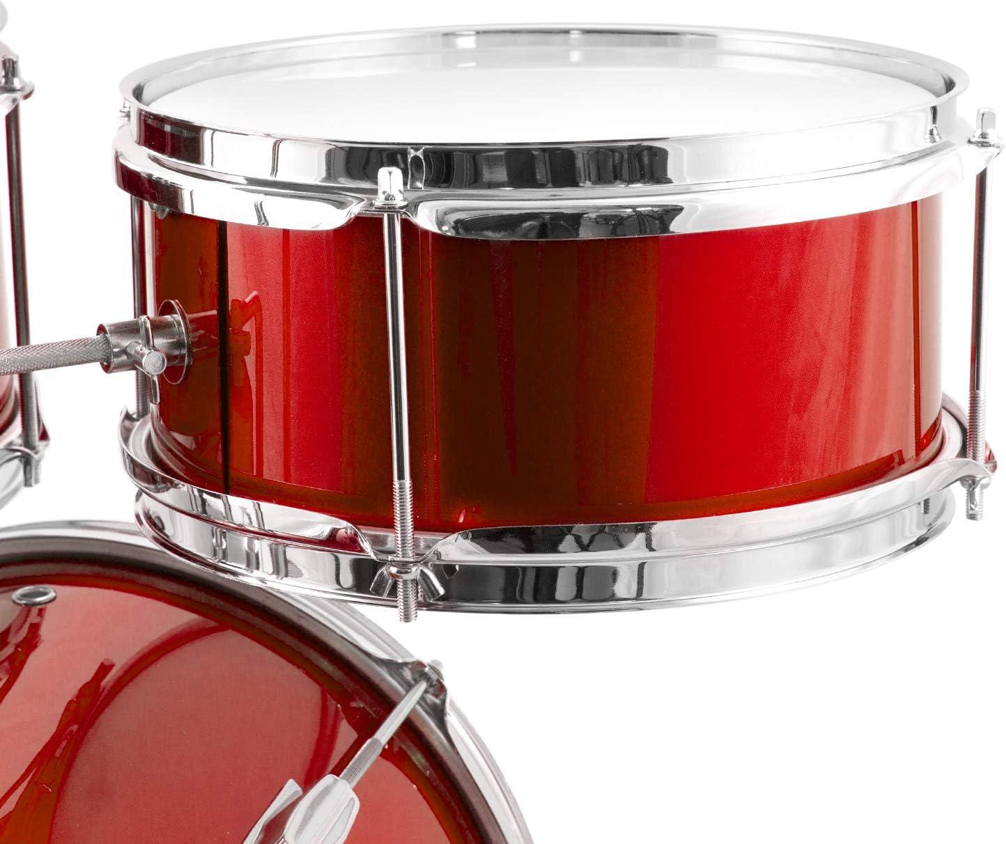 Mad About Kit de batterie pour d/ébutant 3/pi/èces avec tambour Rouge
