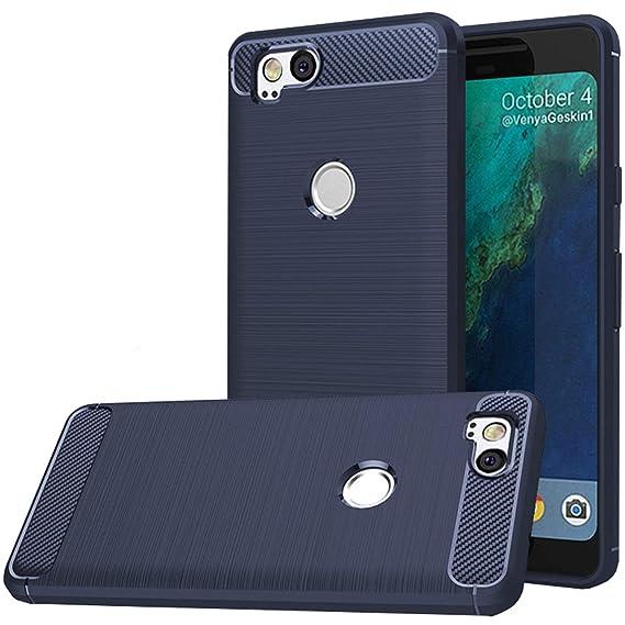 the best attitude 49339 a1616 Google Pixel 2 Case,Google Pixel2 Case, Dretal Carbon Fiber Shock Resistant  Brushed Texture Soft TPU Phone case Anti-Fingerprint Flexible Full-Body ...