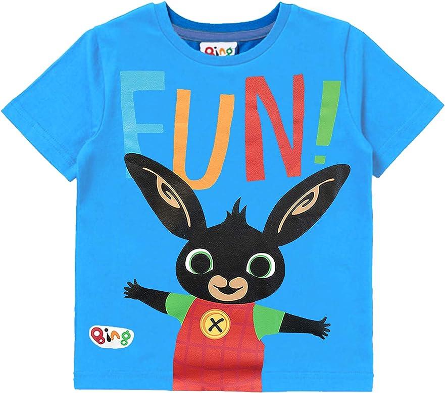 Bing Camiseta Ni/ño Manga Corta del Conejito Top De Algod/ón Azul De Manga Corta para Ni/ños Peque/ños Ropa Infantil Ni/ño Camiseta Deporte Ni/ño Camisetas Infantiles Ni/ños