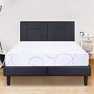 Olee Sleep VCN09FM04F Multi-Layered I-Gel Infused Memory Foam Mattress, Full, White