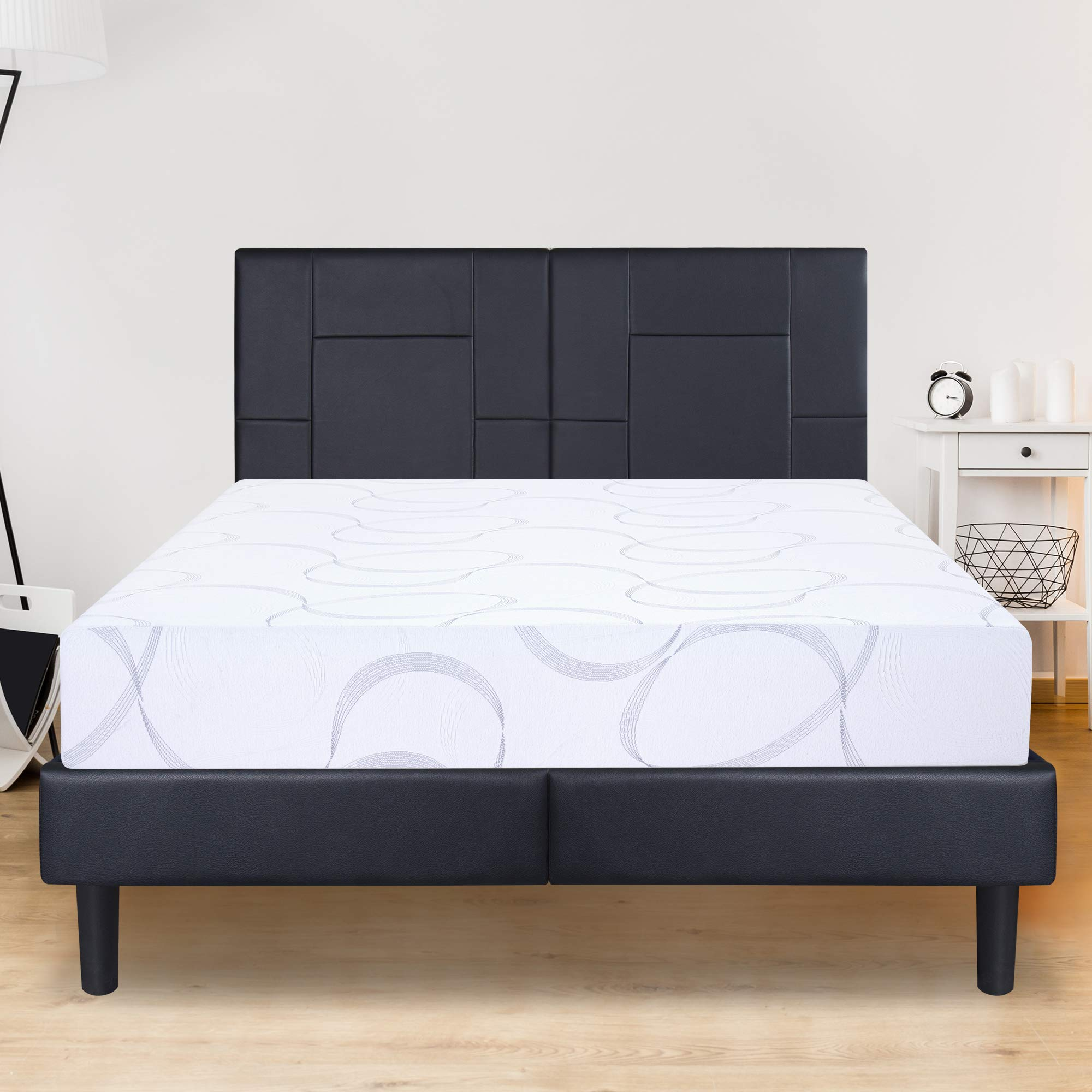 Olee Sleep Multi-Layered I-Gel Infused Memory Foam Mattress, Full, White by Olee Sleep