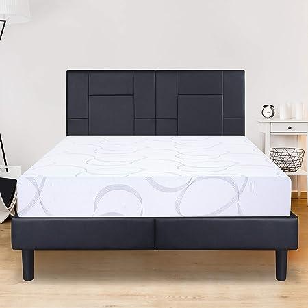 Olee Sleep VCN09FM04F Multi-Layered I-Gel Infused Memory Foam Mattress Full White