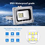 LED Flood Light CHUNNUAN, 10W ,1000LUMEN 6000-6500K (Cold White ), IP65 Waterproof ,floodlight, CE and ROHS Certified Outdoor Security Lights Garden Landscape Super Bright 110V