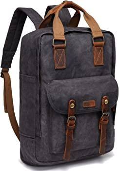 VASCHY Vintage Water-resistant Canvas Backpack