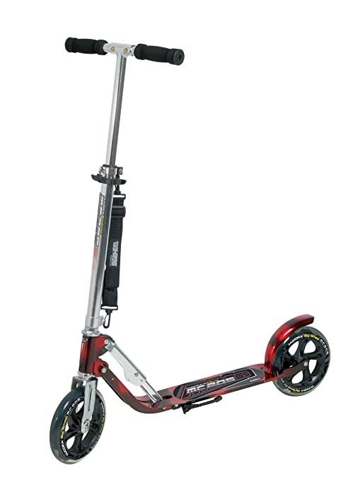 Hudora Big Wheel MC 205 - Patinete (Ruedas 205 mm), Color Plateado y Rojo
