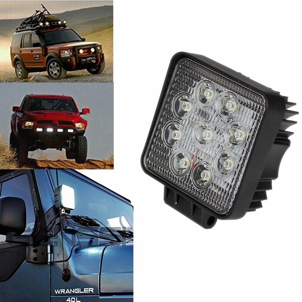 4 * 27 W, Piazza Fari per fuoristrada Faro anteriore,IP67 Impermeabile 12V 24V Luce retromarcia SAILUN 4X27W LED Faro da lavoro Trattore per auto SUV ATV UTV