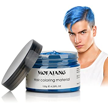 Amazon Mofajang Hair Coloring Wax Blue Temporary Hairstyle