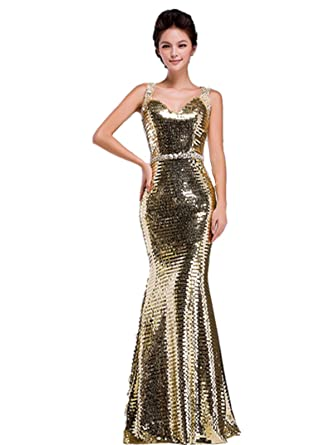 LL5 GOLD Evening Dresses party full length prom gown ball dress robe (12)