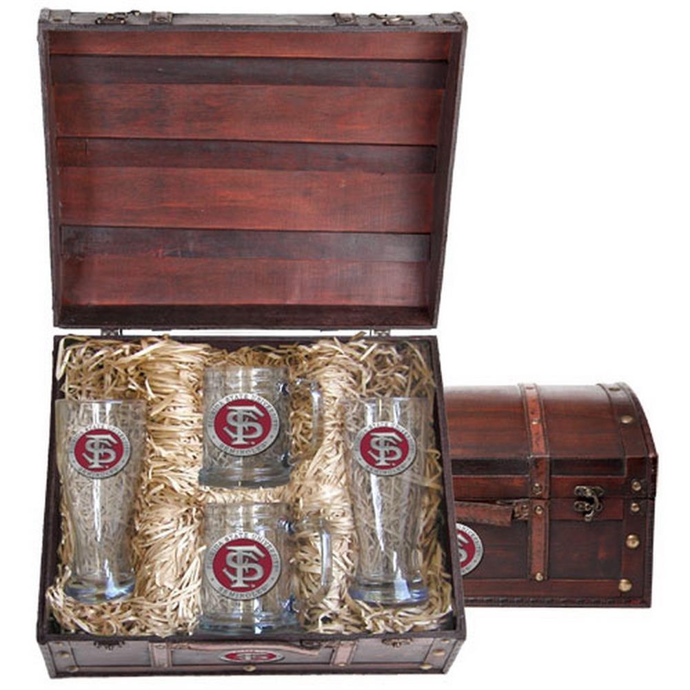 FSU Florida State Seminolesビールガラスとジョッキギフトセット B00QCEQW32