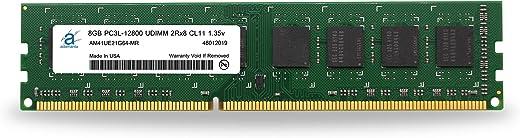 Adamanta 8GB (1x8GB) ترقية ذاكرة سطح المكتب DDR3/DDR3L 1600MHz PC3L-12800 Unbuffered Non-ECC UDIMM 2Rx8 1. 35v CL11 DRAM