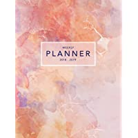 Weekly Planner 2018-2019: Pink Marble 2018-2019 Planner | 18-Month Weekly View Planner | To-Do Lists + Motivational Quotes | Jul 18-Dec 19