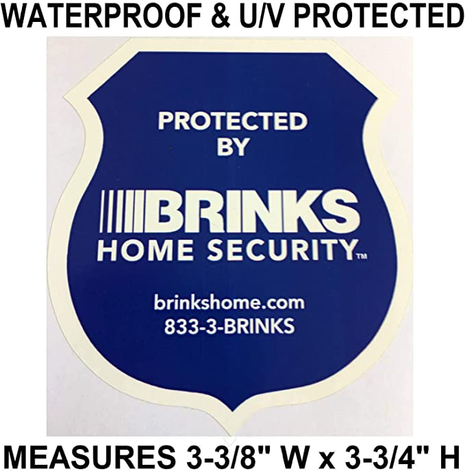 Lot Stickers Decals For Home Store Windows Brinks ADT Security Cameras In Use