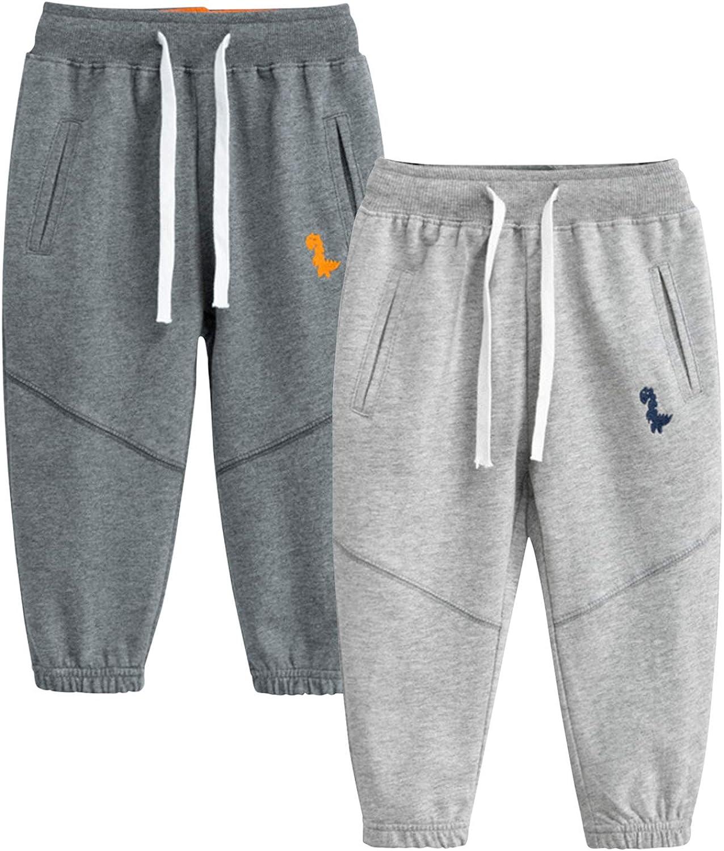 De feuilles Lot de 2 Pantalons B/éb/é Enfant Fille Gar/çon en Coton Legging Pant Doux et Souple