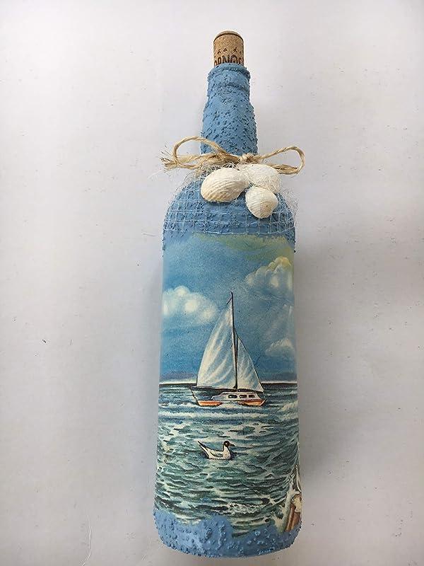 Botella decorativa con motivos marinos: Amazon.es: Handmade