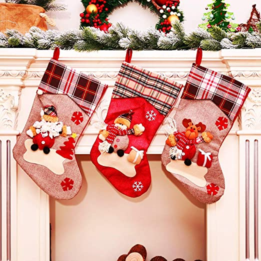 Fireplace Stockings 3 4 5 6 Personalized Christmas Ornament Kit