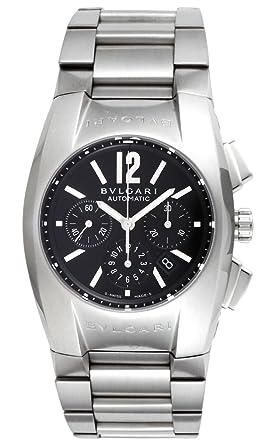af6fca13f3d6 [ブルガリ]BVLGARI 腕時計 エルゴン ブラック文字盤 自動巻 クロノグラフ デイト EG35BSSDCH メンズ