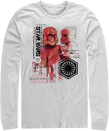 Amazon Com Star Wars The Rise Of Skywalker Men S Sith Trooper Schematic Villain Long Sleeve T Shirt Clothing