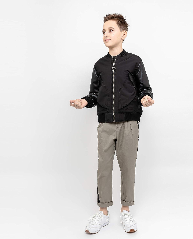 GULLIVER Jungen Jacke Fake Lederjacke Schwarz /Übergangsjacke Herbst ohne Kapuze 8-13 Jahre 134-164 cm