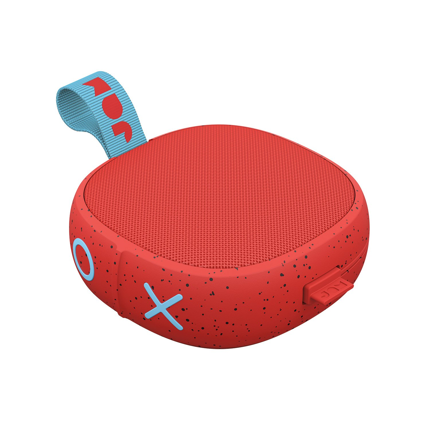 Hang Up  Shower Bluetooth Speaker  8 Hour Playtime  Waterproof  Dust-Proof  Drop-Proof IP67 Rating  Built-in Speakerphone  Aux-In Port  Integrated USB  JAM Audio Red