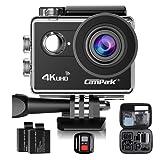 Campark ACT73R Impermeabile Sport Action Cam 4K Camera Wifi 170°Grandangolare con Telecomando 2.4G + 2 Batterie + Vari Accessori