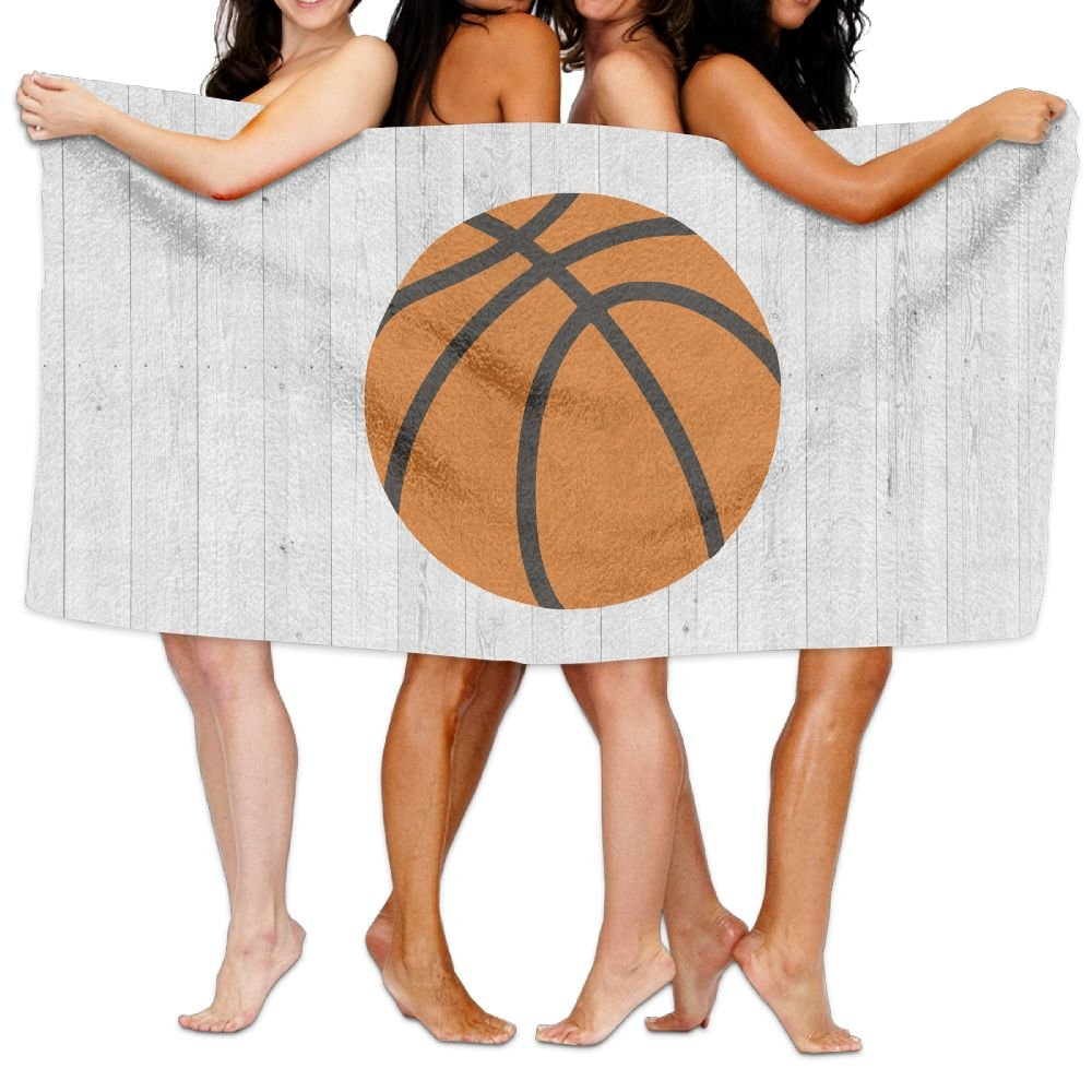 PengMin Wood Basketball Sports Clipart Premium 100% Polyester Large Bath Towel, Pool And Bath Towel (80'' X 130'') Natural, Soft, Quick Drying