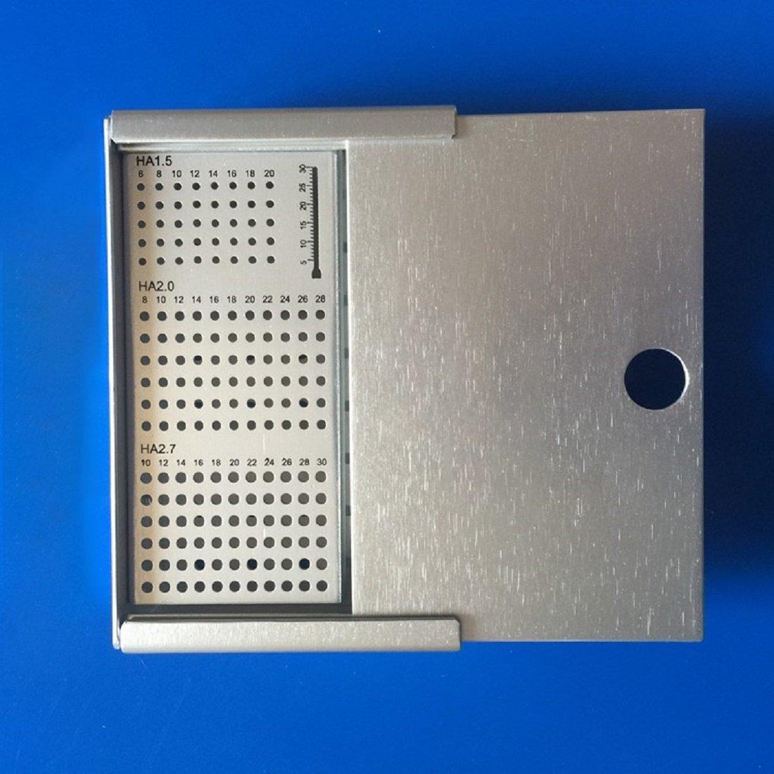 Tinsay Bone Screws Case Rack HA1.5mm 2.0mm 2.7mm Veterinary Orthopedics Instruments Stainess Steel by tinsay