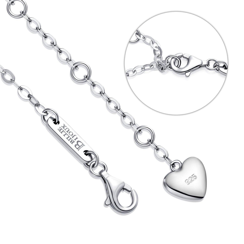 Billie Bijoux Womens 925 Sterling Silver Infinity Endless Love Symbol Charm Adjustable Bracelet Gift for Mother's Day (Blue) by Billie Bijoux (Image #5)