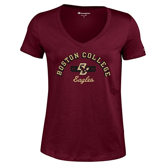 Champion NCAA Womens University Short Sleeve Tagless V-Neck Tee Louisville Cardinals Large
