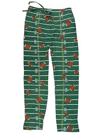 Amazon.com: Football Field Green Comfy Lounge Pants Sports Theme ...