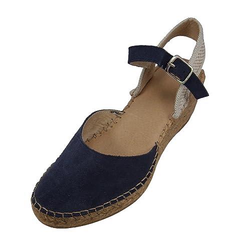 Alpargatus - Alpargatas Cuña Azul Marino Trasera: Amazon.es: Zapatos y complementos