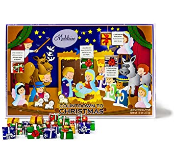 Amazon.com : Madelaine Chocolate Countdown to Christmas Advent ...